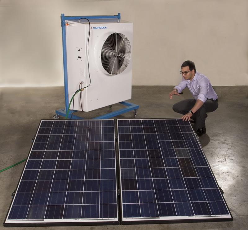 Desarrollan aire acondicionado que funciona con luz solar - Aire-acondicionado-luz-solar