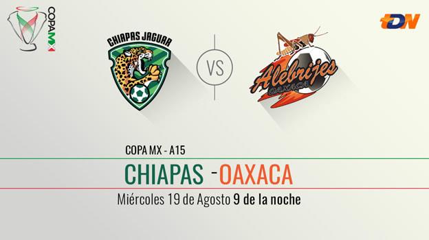 Jaguares vs Alebrijes en la Copa MX Apertura 2015 - Chiapas-vs-Oaxaca-en-vivo-Copa-MX-Apertura-2015