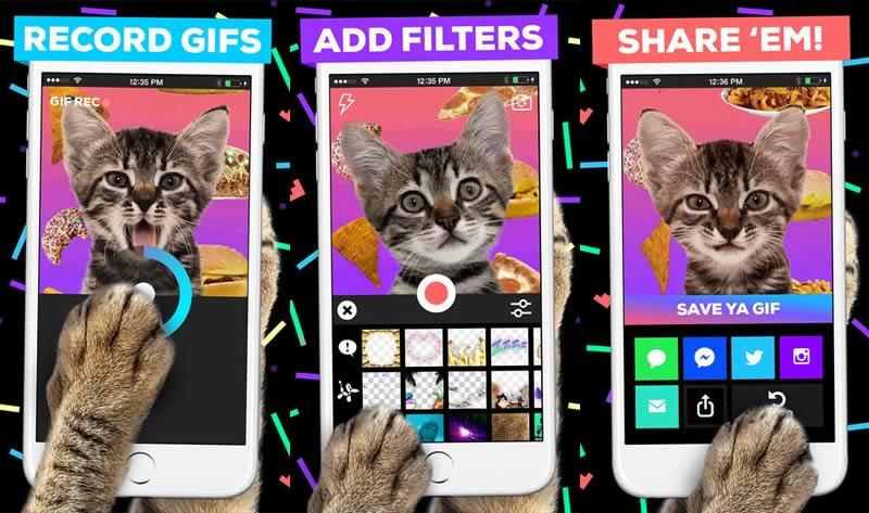 Giphy Cam te permite crear gif animados desde tu iPhone de manera sencilla - Crear-gif-animados-Giphy-Cam