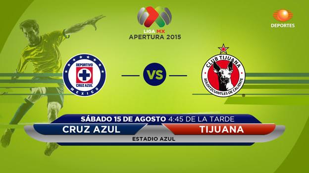 Cruz Azul vs Tijuana, Jornada 5 del Apertura 2015 - Cruz-Azul-vs-Tijuana-en-vivo-Televisa-Deportes-Apertura-2015