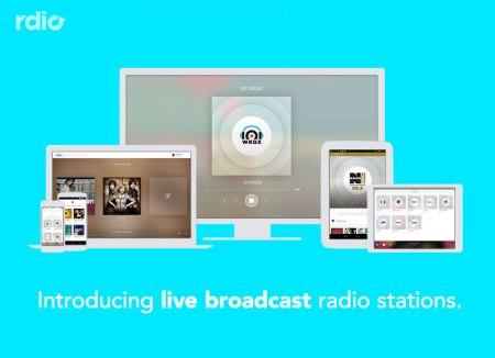 Rdio integra estaciones de radio en vivo en su plataforma