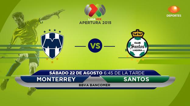 Monterrey Vs Santos, Fecha 6 Del Apertura 2015