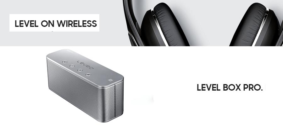 Samsung anuncia los audífonos y bocinas Level - bocinas-Level-Box-Mini-audifonos-Level-On-Wireless