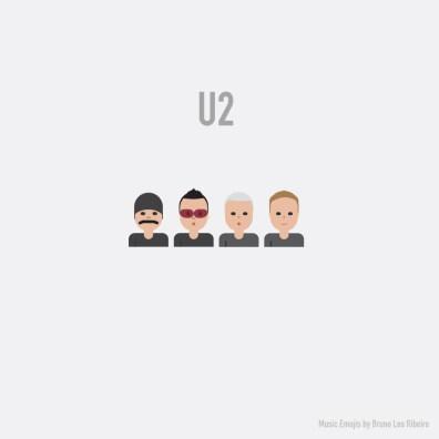 Estrellas de la industria musical se vuelven emojis - U2-emoji