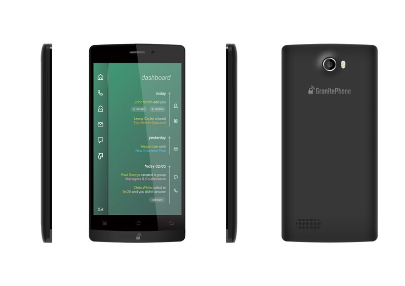 """GranitePhone, el """"smartphone seguro"""" ya se puede comprar - GranitePhone-en-Mexico"""