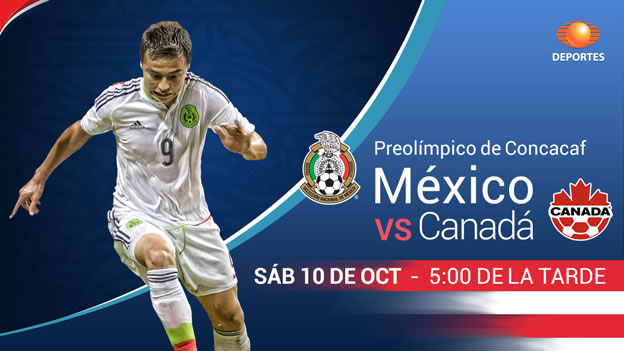 México vs Canadá, Semifinal del Preolímpico 2015 - Mexico-vs-Canada-en-vivo-Preolimpico-2015