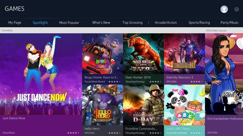 Samsung presentó el nuevo panel de juegos para sus Smart TVs - Samsung-Panel-de-Juegos