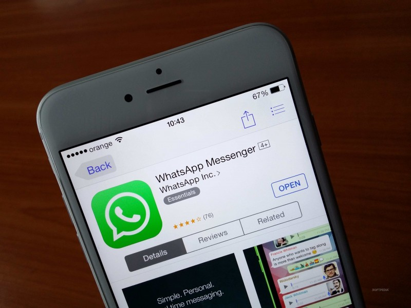 WhatsApp se actualiza con soporte a 3D Touch en iPhone 6S - Whatsapp-iphone-800x600