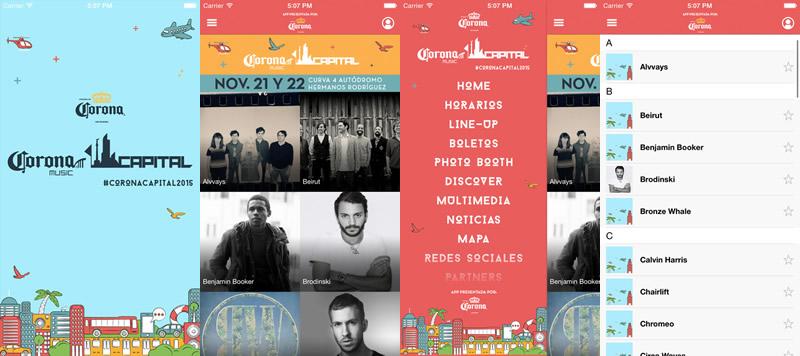 app del corona capital 2015 Conoce la app del Corona Capital 2015 y organiza tu día en el festival