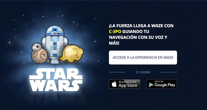 waze star wars Star Wars llegó a Waze con la voz de C 3PO