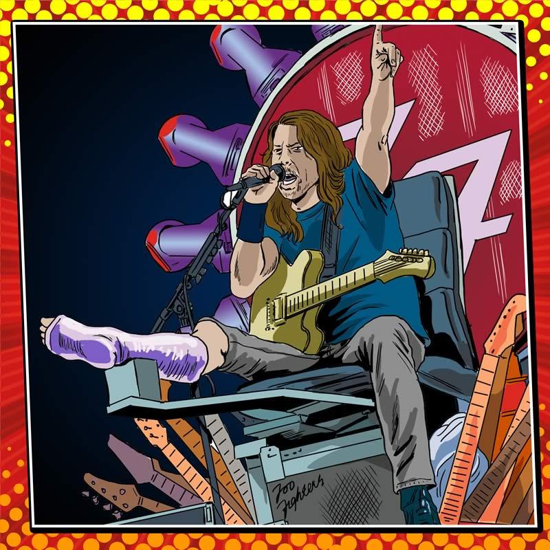 comicsingles es 4 Los súper héroes y villanos de la música del 2015 plasmados en cómics en The Deezer Annual