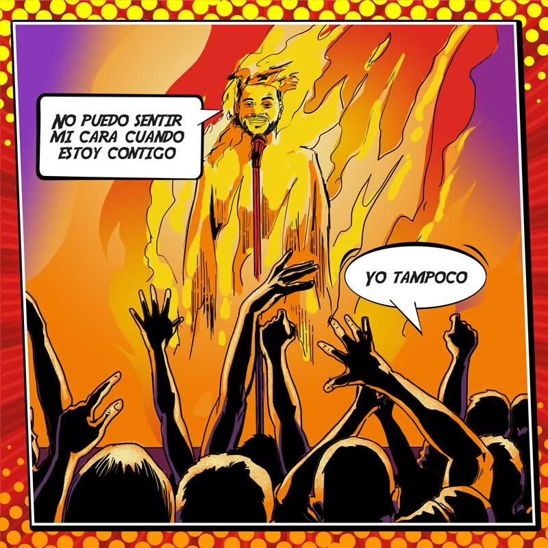 comicsingles es 8 Los súper héroes y villanos de la música del 2015 plasmados en cómics en The Deezer Annual