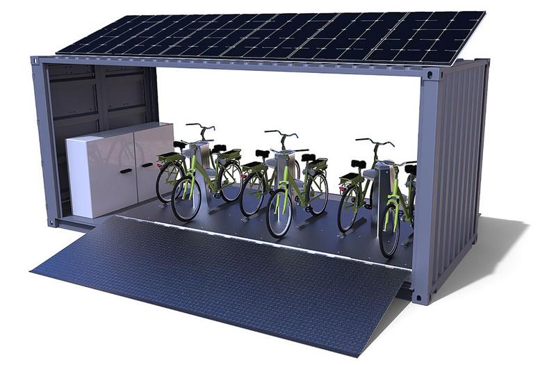 Mexicano en Francia diseña estación de bicicletas eléctricas que se recargan de forma inalámbrica - estacion-de-bicicletas-electricas