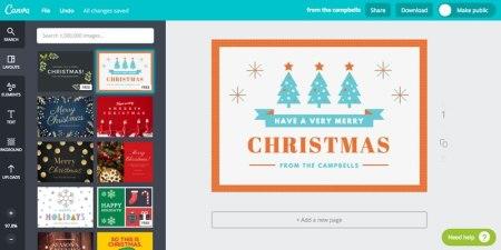 Crea tarjetas de navidad increíbles con las plantillas de Canva