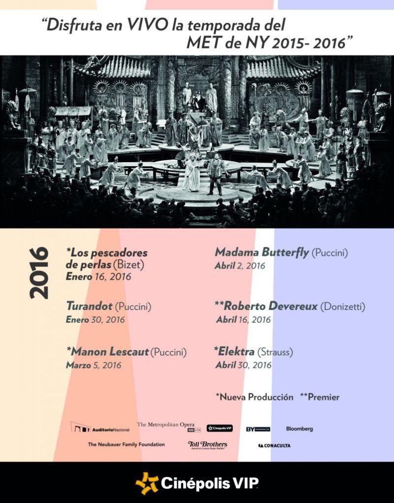 Cinépolis presenta su temporada de Ópera y Ballet 2016 - cinepolis-opera