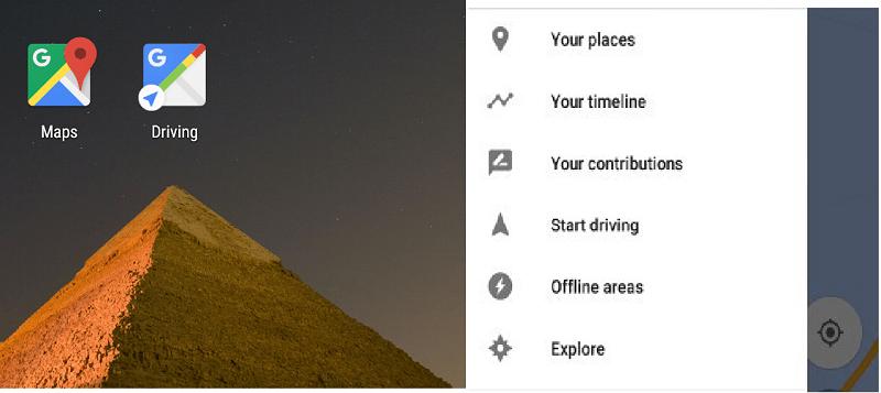 Google Maps predecirá destinos en nueva actualización para Android - google-maps-driving-mode-800x357