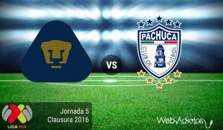 Pumas vs Pachuca, Jornada 5 del Clausura 2016 ¡En vivo por internet!