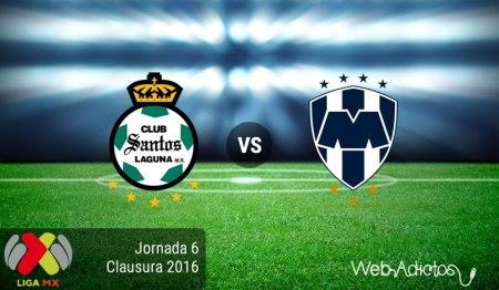 Santos vs Monterrey, Fecha 6 del Clausura 2016 ¡En vivo por internet!
