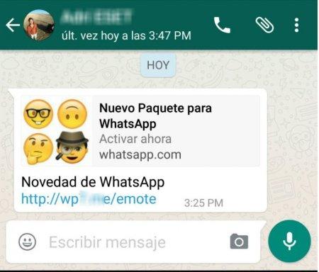 Paquetes de emojis de WhatsApp son una nueva forma de estafa