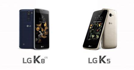 LG presenta dos modelos de la serie K, el K8 y K5