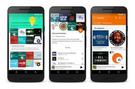 Google Play Music oficializa su función de podcasts