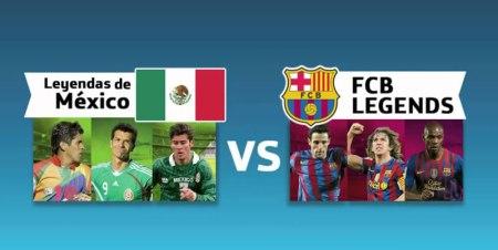 Leyendas de México vs Barcelona, hora y cómo verlo