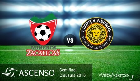 Mineros vs Leones Negros UDG, Semifinal del Ascenso MX C2016 | Resultado: 1-1