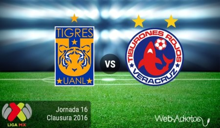 Tigres vs Veracruz ¡En vivo por internet! | Clausura 2016 J16