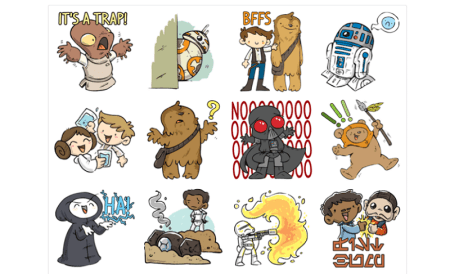 Facebook actualiza stickers de Star Wars en Messenger