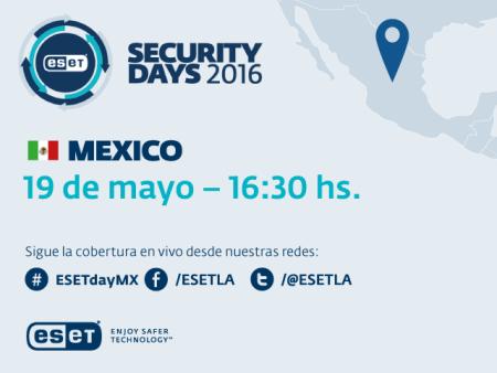 Llega la sexta edición del ESET Security Days México