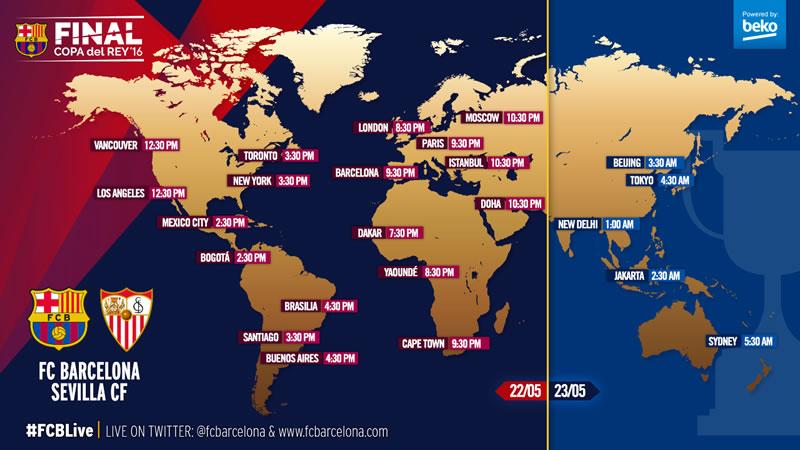 A qué hora juega Barcelona vs Sevilla la final de Copa del Rey 2016 y en qué canal se transmite - horarios-barcelona-vs-sevilla-final-copa-del-rey-2016