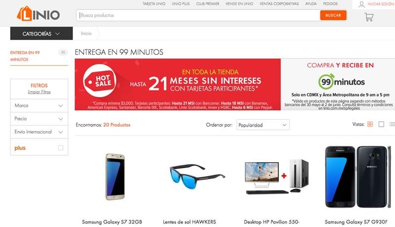 Compras en Linio durante el Hot Sale 2016 te llegan en 99 minutos o menos - linio-hot-sale-2019-entrega-99-minutos