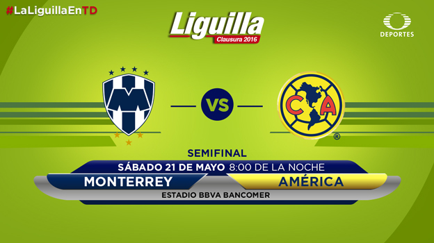 Monterrey vs América, Semifinal Clausura 2016   Resultado: 4-2 - monterrey-vs-america-semifinal-vuelta-2016-televisa-deportes