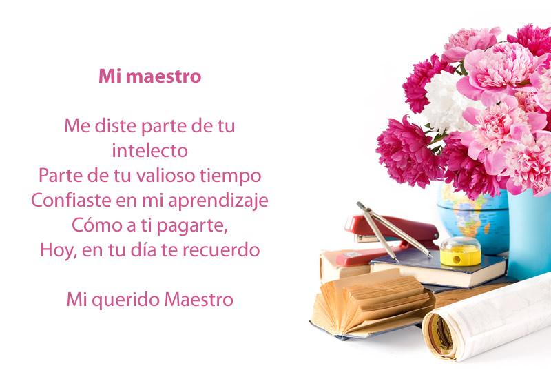 Poemas del día del maestro para lucirte con ellos este 15 de mayo