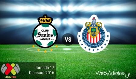 Santos vs Chivas, Fecha 17 del Clausura 2016 ¡En vivo por internet!