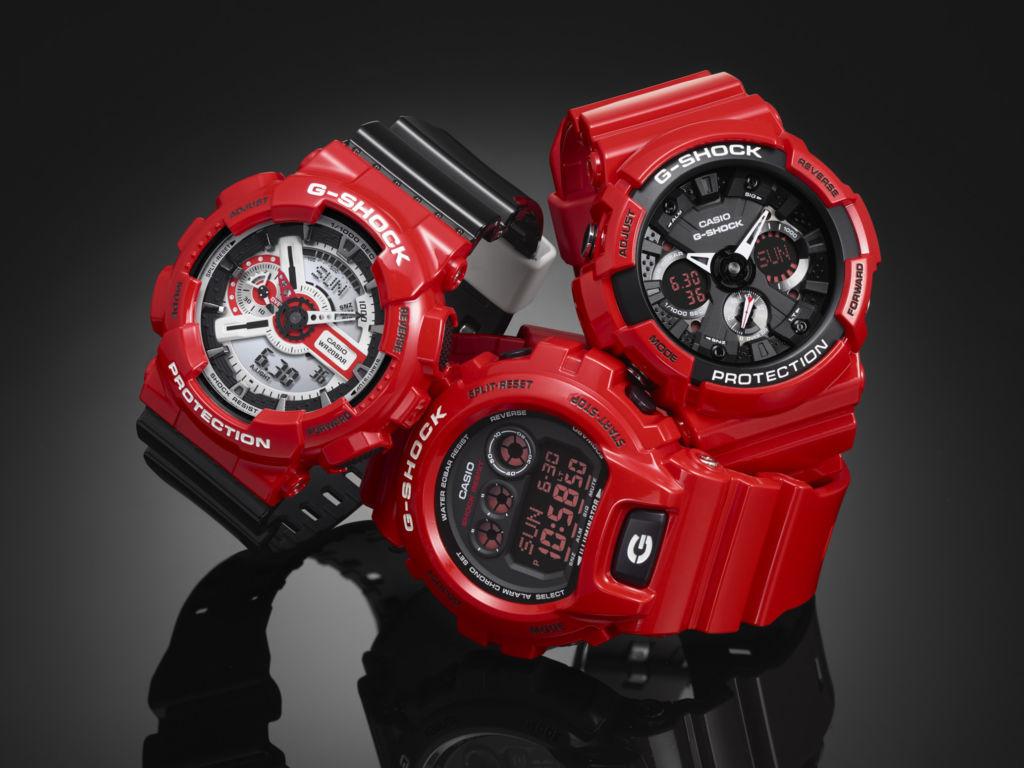 G-SHOCK presenta la nueva colección Solid Red, el rojo en su máxima expresión - solid_red_series_1