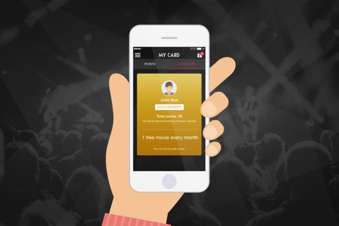 Goodbarber te permite integrar tarjetas de fidelidad y puntos en tu app - goodbarber-club-card