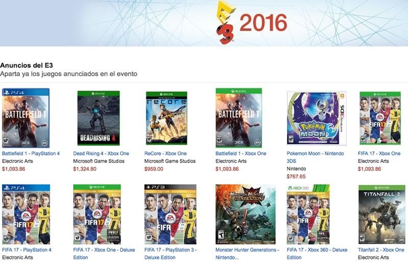 Compra los juegos del E3 2016 en la preventa de Amazon México - juegos-e3-2016-amazon