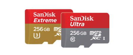 Lanzan tarjetas microSD Extreme y Ultra de 256 GB
