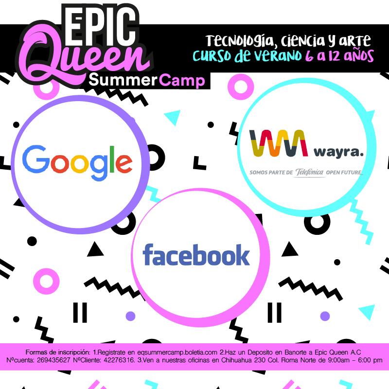 Epic Queen Summer Camp, tecnología, ciencia y arte para niñas - verano-01