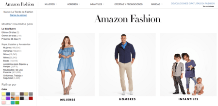 Amazon Mexico lanza Amazon Fashion, moda a un solo clic