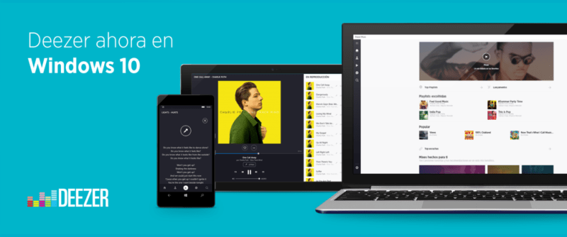 Deezer presenta su versión optimizada para Windows 10 - deezer-para-windows-10-800x334