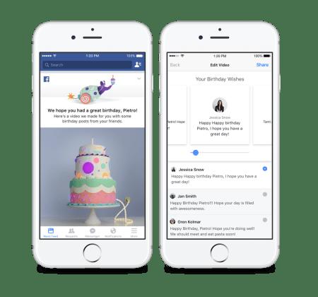 Facebook presenta videos de cumpleaños