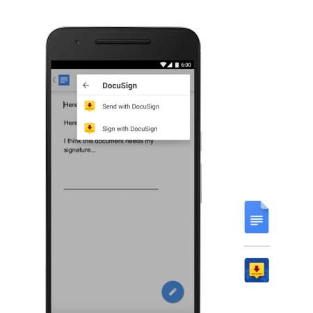 Google presenta extensiones para Docs y Sheets en Android