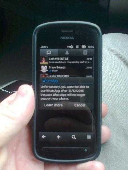 WhatsApp para Symbian dejará de funcionar en diciembre - mensaje-enviado-a-moviles-con-symbian