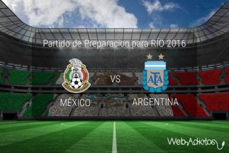 México vs Argentina Sub 23, Partido amistoso 2016 ¡En vivo por internet!