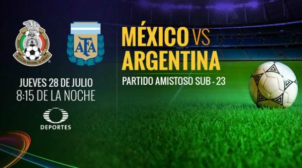México vs Argentina Sub 23, Partido amistoso 2016 | Resultado: 0-0 - mexico-vs-argentina-sub-23-en-vivo-amistoso-2016