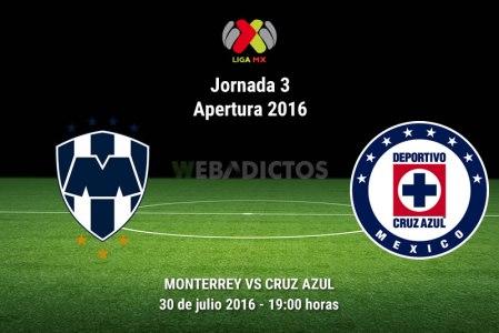 Monterrey vs Cruz Azul, J3 del Apertura 2016 ¡En vivo por internet!
