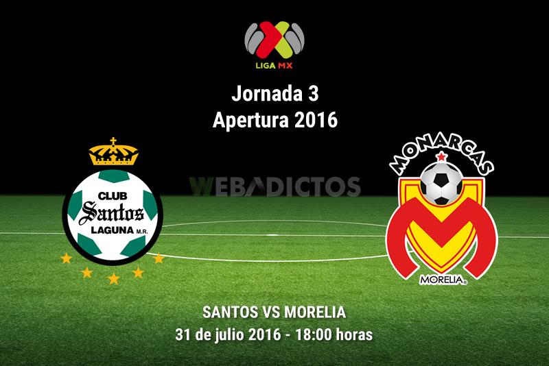 Santos vs Morelia, J3 del Apertura 2016 | Resultado: 2-4 - santos-vs-morelia-apertura-2016