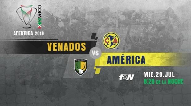 Venados vs América, J1 de la Copa MX AP2016   Resultado: 0-3 - venados-vs-america-en-vivo-copa-mx-apertura-2016